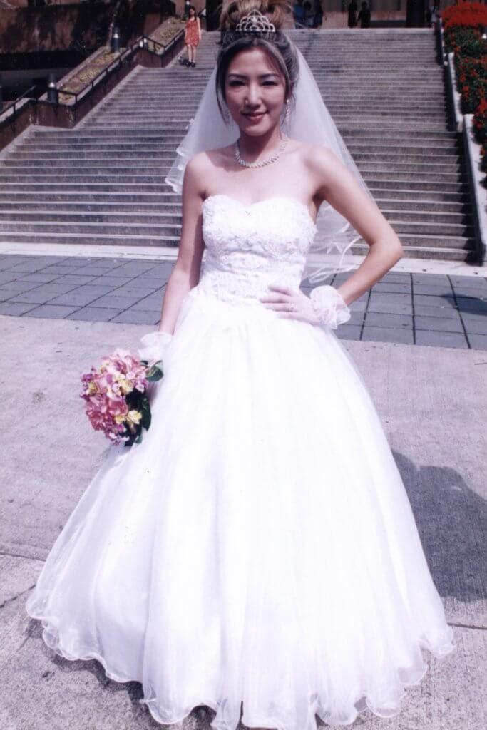 關寶慧演戲穿過婚紗,現實中現在仍是單身。