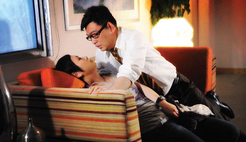 阮兆祥與不少對手演過親熱戲,最有壓力的就是與田蕊妮在《真相》的那一場。