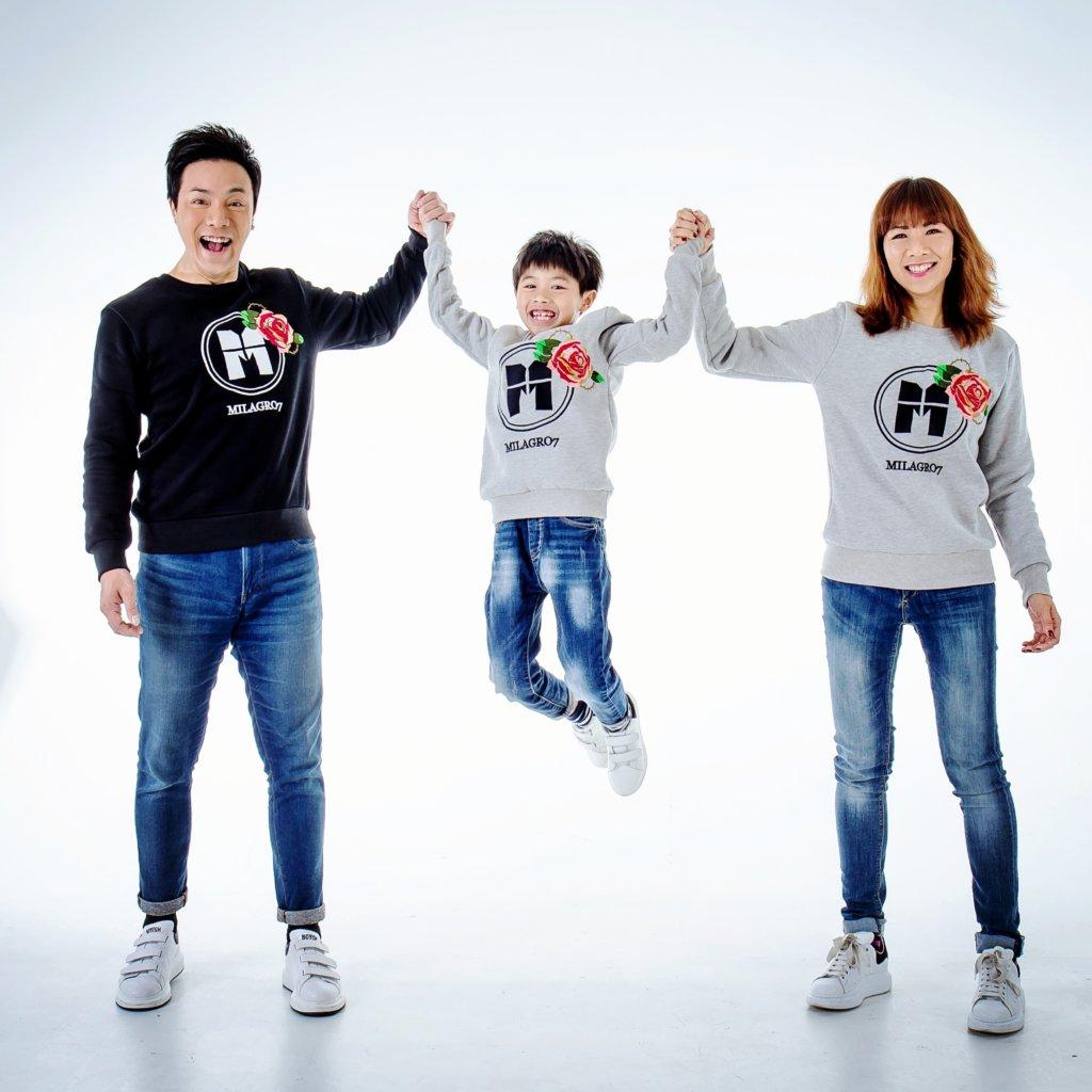 章志文與太太陳念君曾經創立自家時裝品牌,一家三口更充當生招牌。