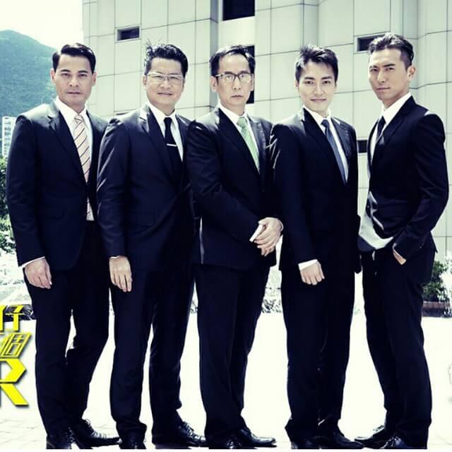 黃子恆在《四個女仔三個BAR》演律師,與蔣志光、鄭子誠等幾位前輩合作。