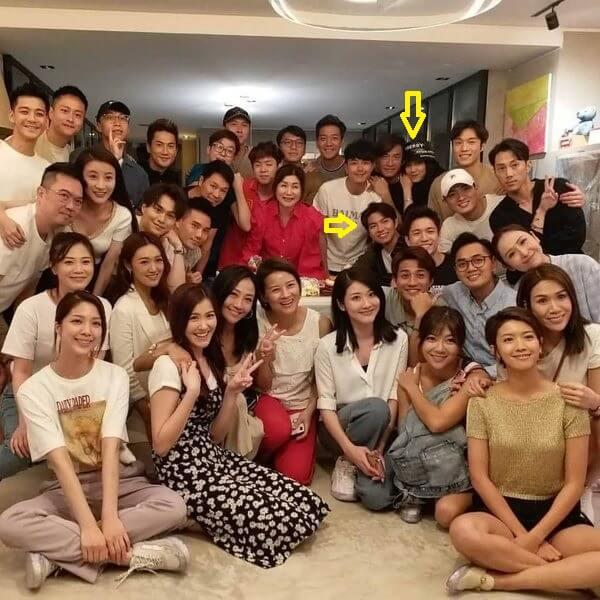 羅天宇、湯洛雯與馬國明出席樂易玲生日會,大方合照。