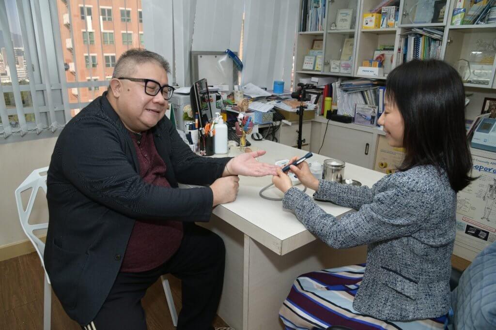 劉錫賢多年前發現有糖尿病,今年疫情關係少運動,血糖控制得不理想。