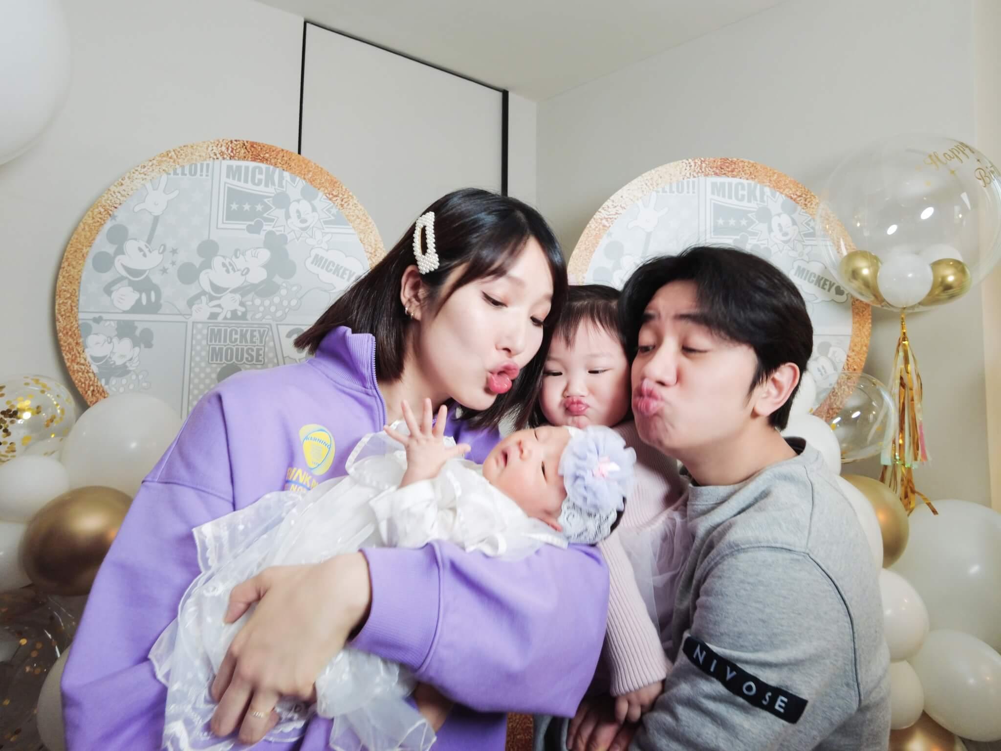 王祖藍與李亞男早前舉行慶祝派對,除了歡迎Hayley出世,還為Gabby慶祝兩歲生日。