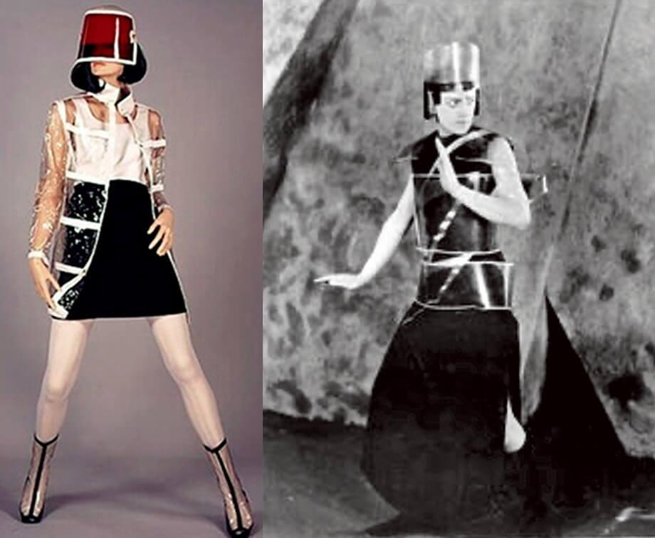 左:六十年代時裝設計 右:《火星王后》角色造型圖