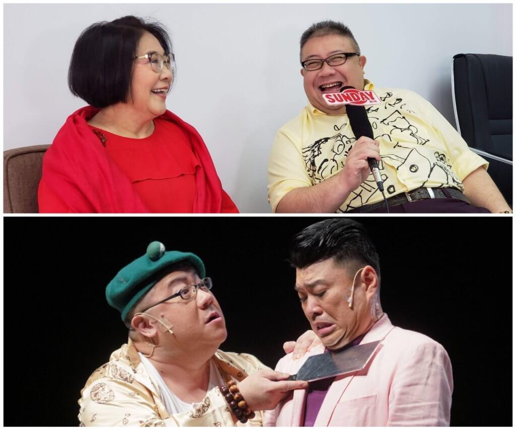 劉錫賢一九年和李司棋、阮兆祥演出舞台劇《秘密》