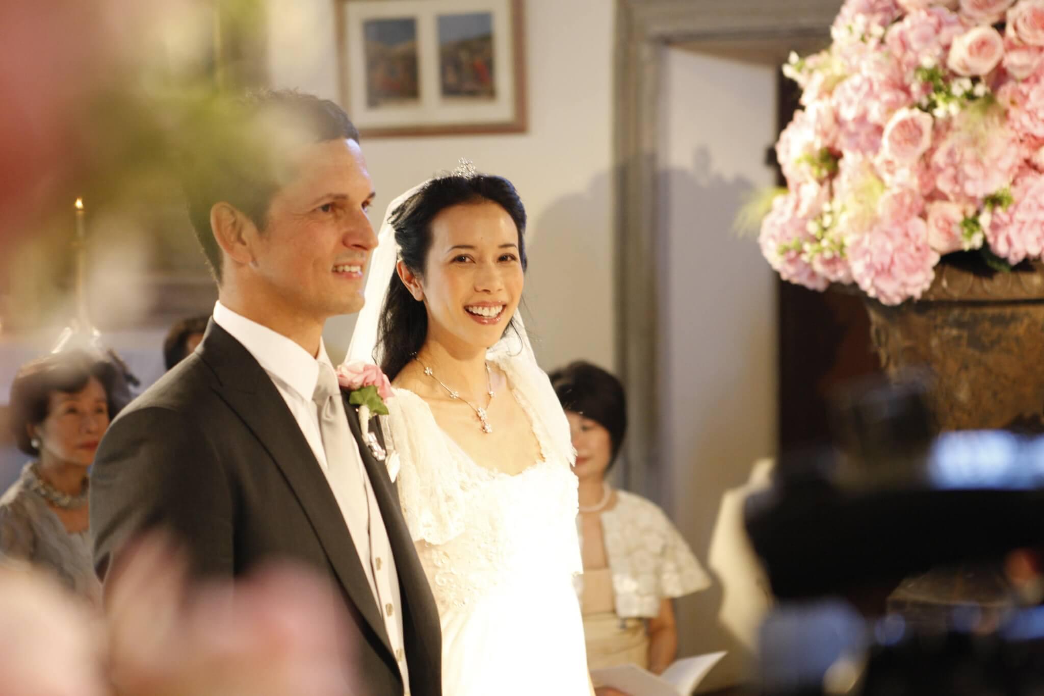 Karen一一年於意大利舉行婚禮,是她與Johannes最初相遇的地方,非常有意義。