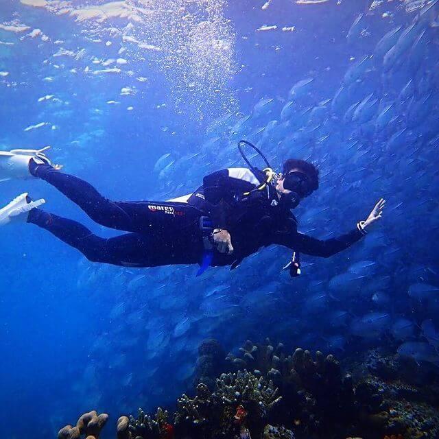 麥大力熱愛潛水運動,他說海底世界令他感覺非常平靜。