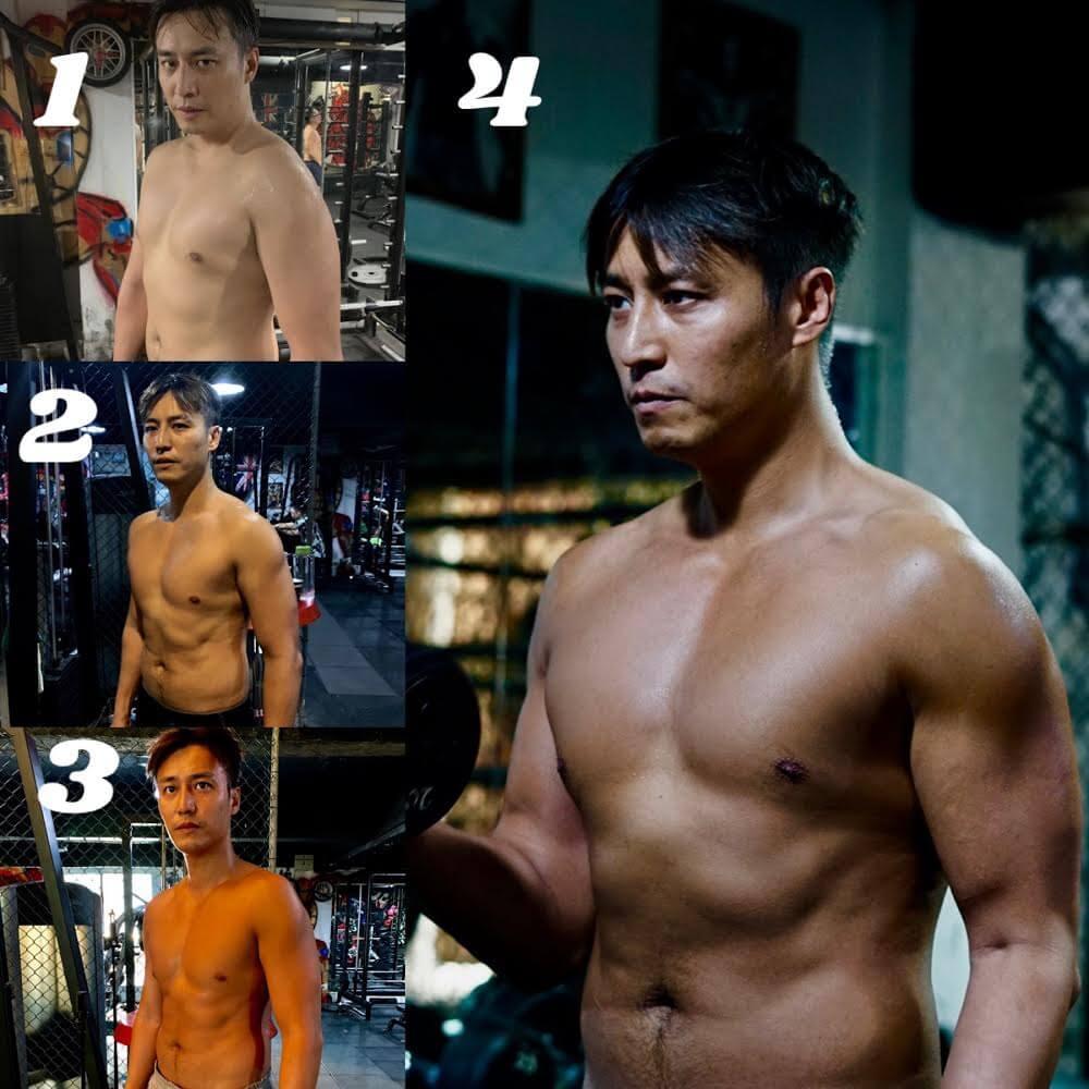 張建聲去年拍攝《一秒拳王》又用了45日,由190磅減至167磅。