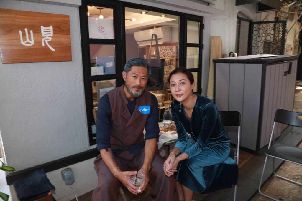 吳綺莉與黃德斌一起拍攝ViuTV的《太平紋身店》,受疫情影響此劇足足拍了九個月。