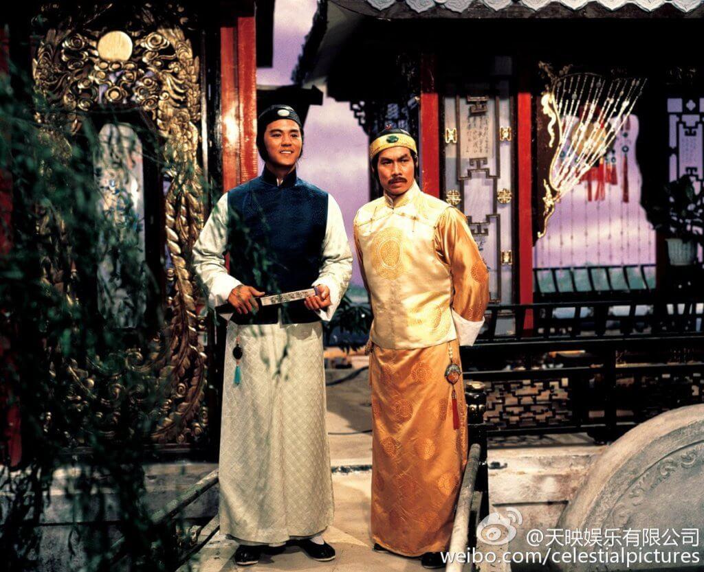 白彪與狄龍是邵氏同期的師兄弟,二人在電影《書劍恩仇錄》中分別飾演陳家洛及乾隆。