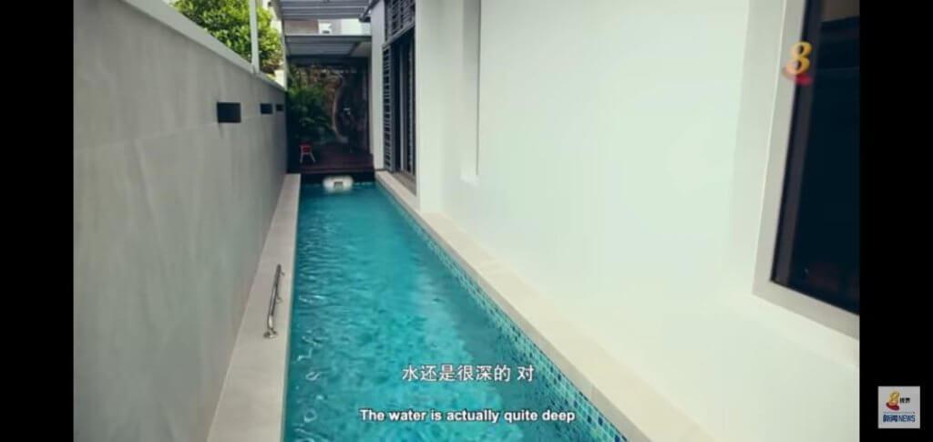 許紹雄在新加坡的家擁私人泳池