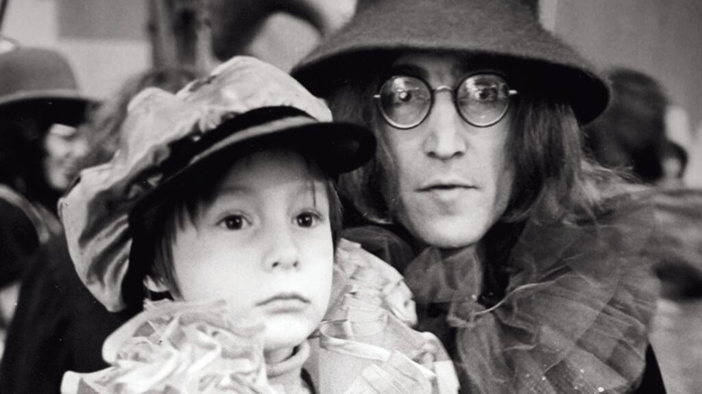 John Lennon and his son Julian Lennon