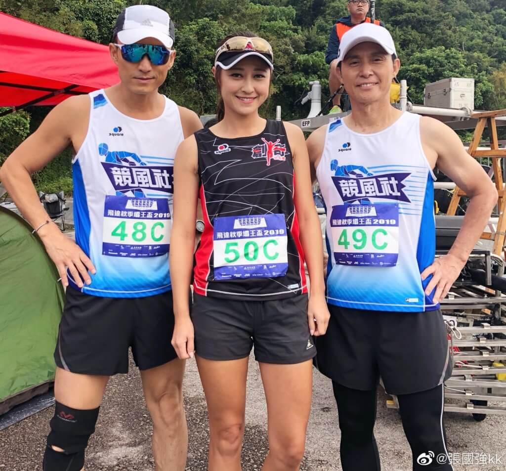 張國強和陳山聰、李思雅在新劇《大步走》演賽跑運動員,64歲的張國強體態fit過很多同齡藝人。