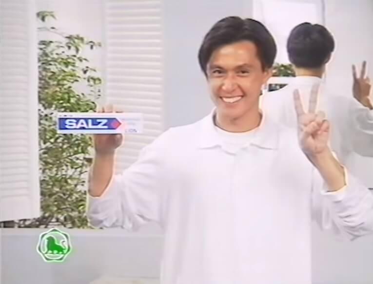 張國強在這個牙膏廣告中,作日本偶像打扮。