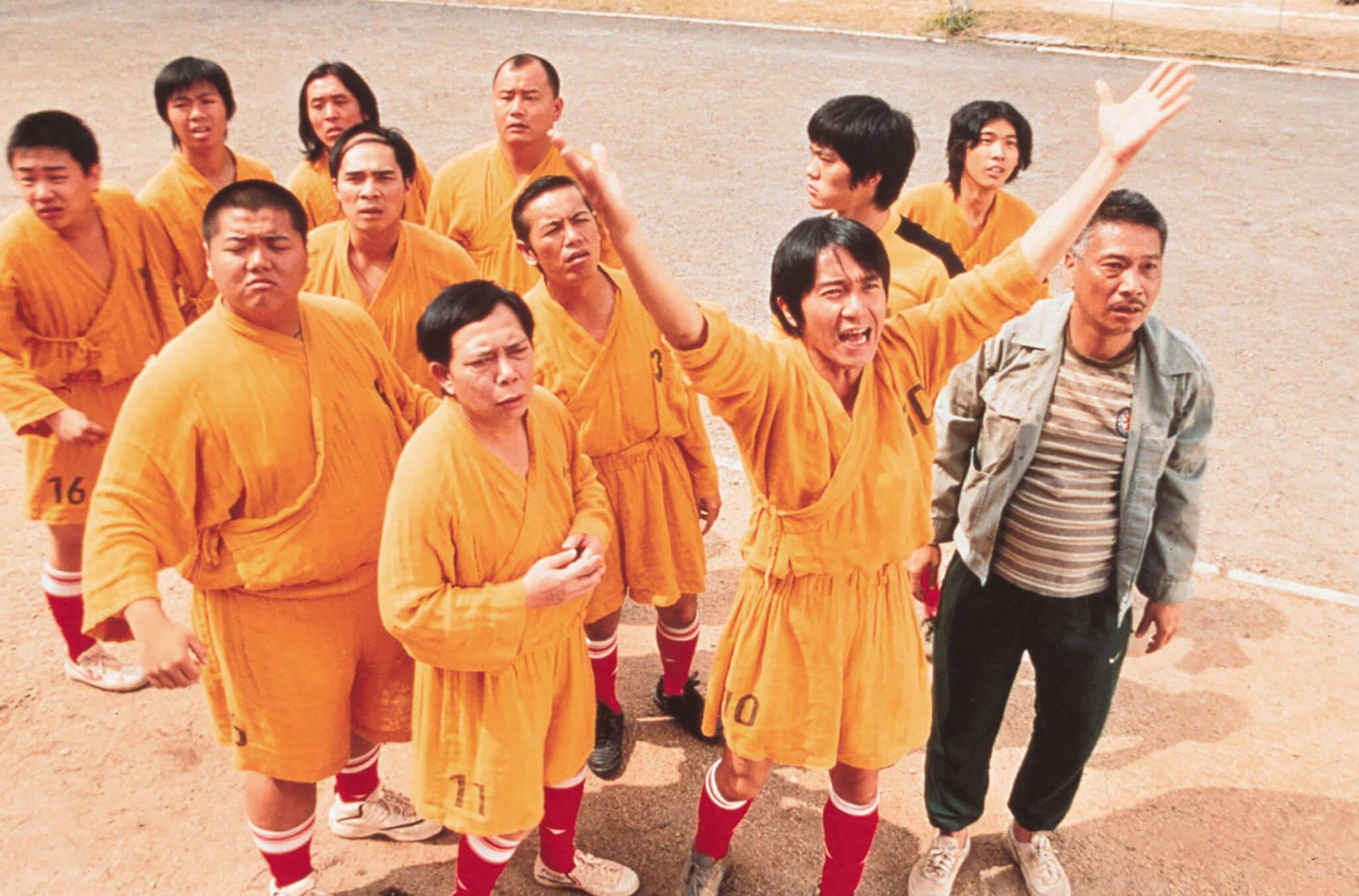 GGK54Y SHAOLIN KICKERS / Shaolin Soccer Hongkong 2002 / Stephen Chow Szene Regie: Stephen Chow aka. Shaolin Soccer. Image shot 2003. Exact date unknown.