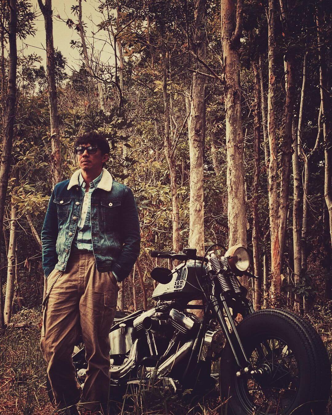 張繼聰是電單車狂,經常與愛車到處「拍拖」。