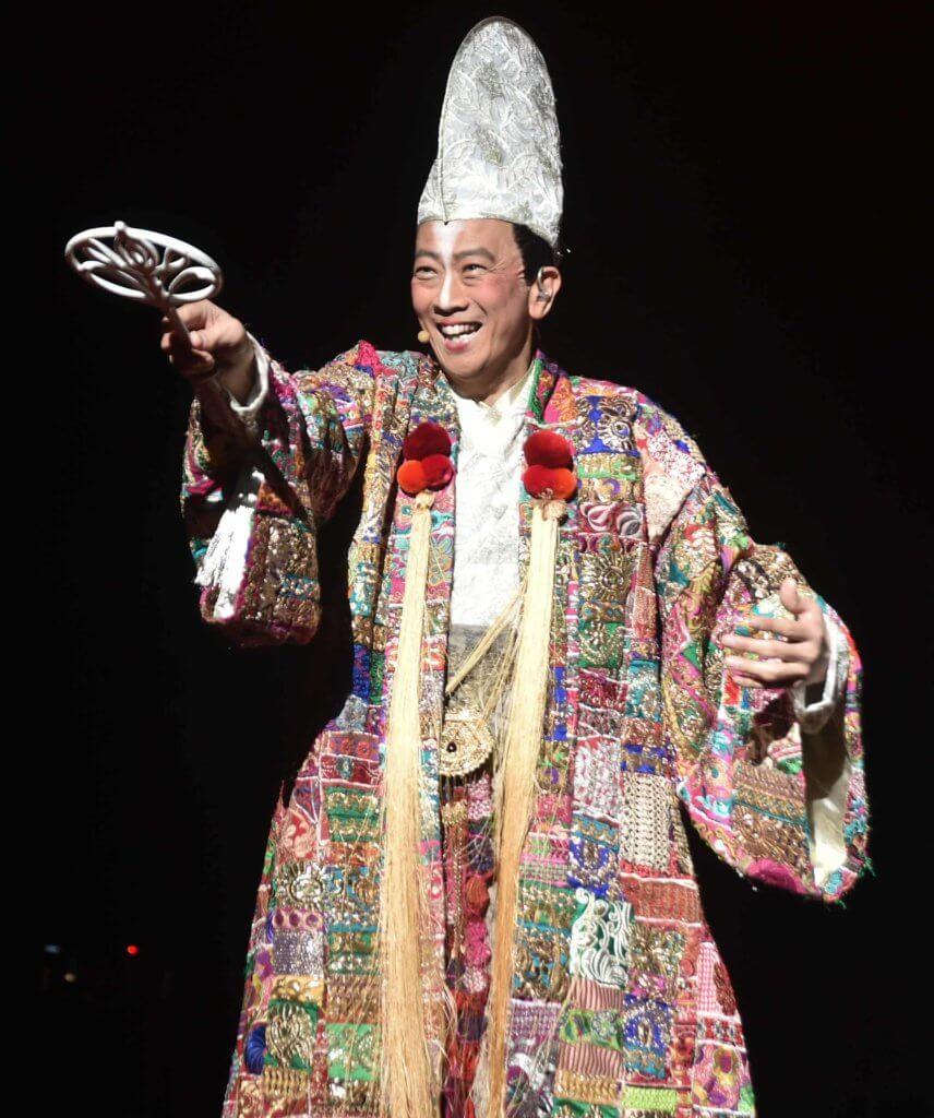 阿旦在《風雲5D音樂劇》飾演文丑丑,兼任創作總監。