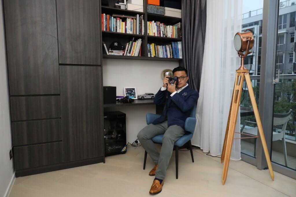 王傲山的書房是他獨處的空間,沒有玩具孩子們也卻步。
