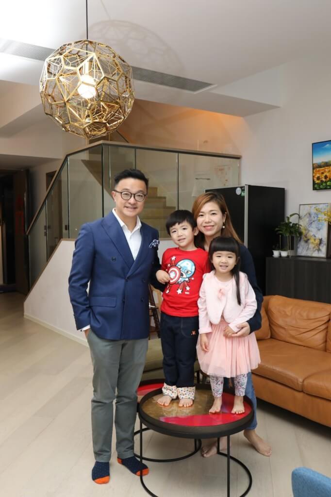 王傲山視太太Janny和兩個孩子為人生最重要的支柱