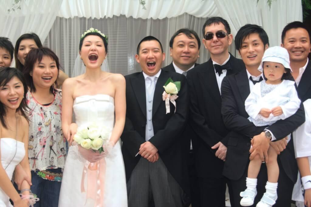田蕊妮和杜汶澤○五年結婚,婚禮上有黃秋生、余文樂、王晶等眾星出席。