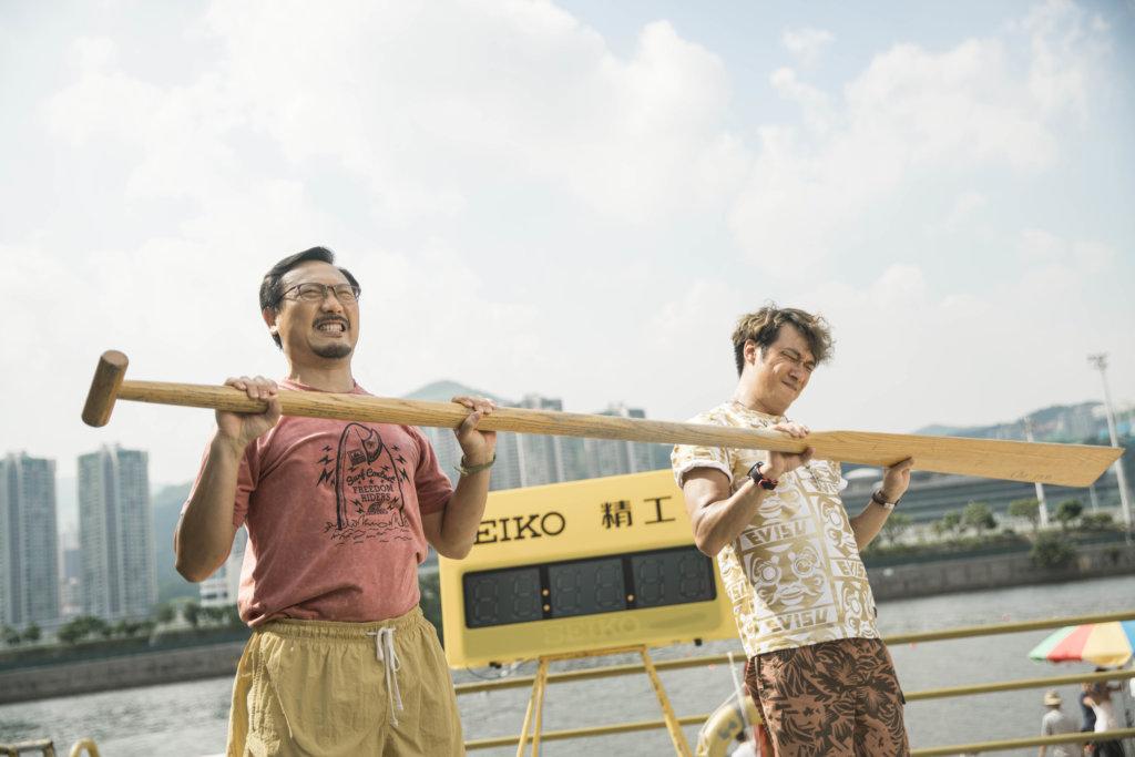 潘燦良在電影《逆流大叔》扒龍舟,入圍香港電影金像獎最佳男配角。