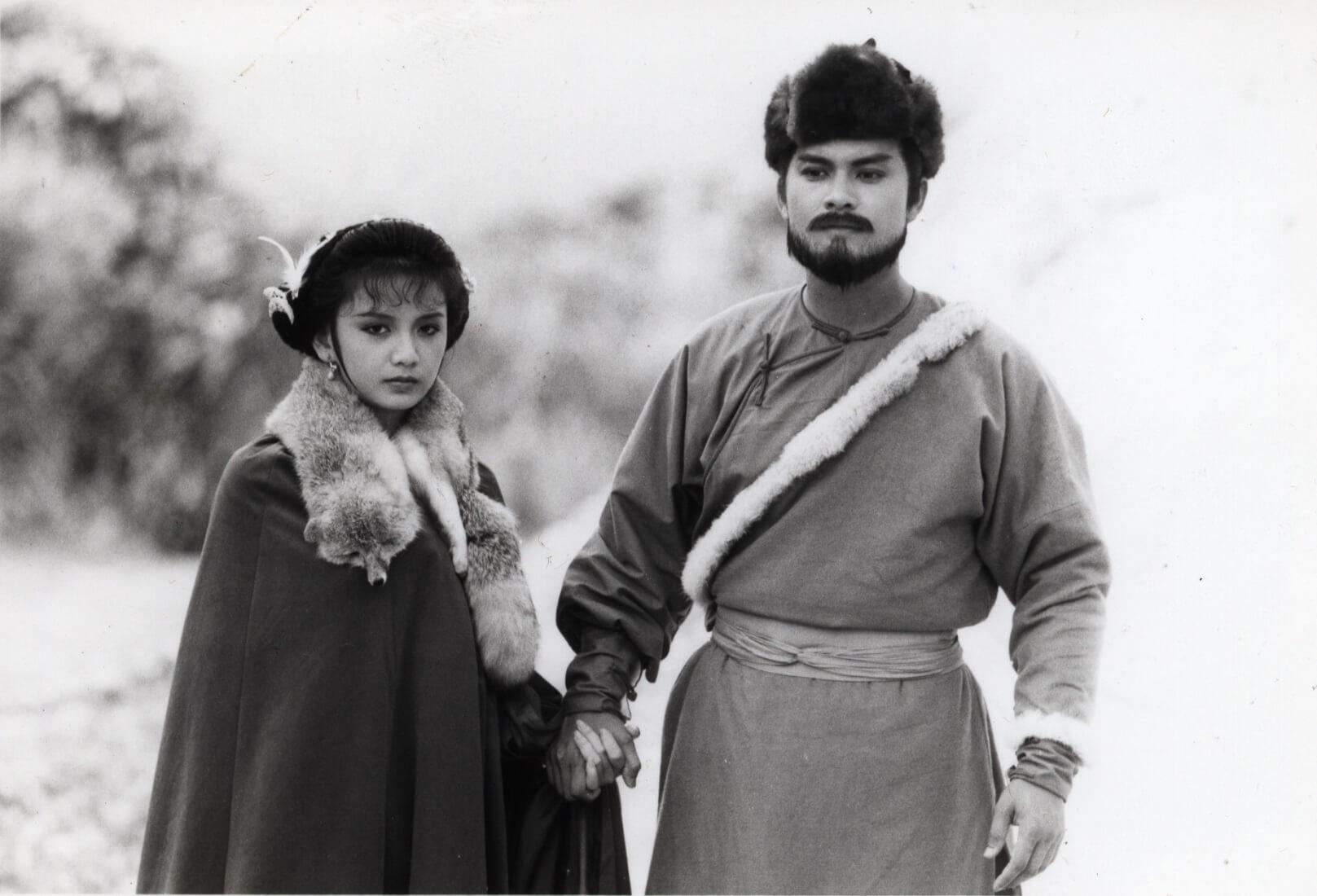曾華倩與呂良偉於1985年合作《雪山飛狐》
