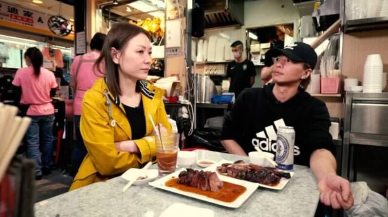 田蕊妮監製和主持網絡節目,走訪燒味店的打工仔。