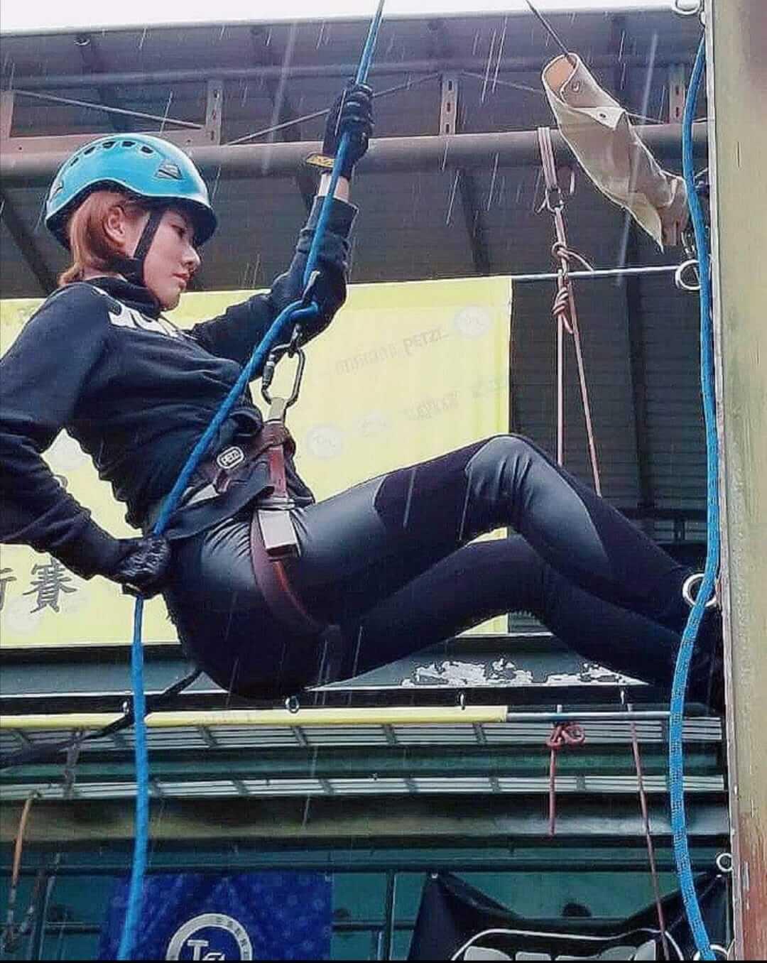鄧佩儀表示攀石是一種不錯的運動,可以訓練專注力。