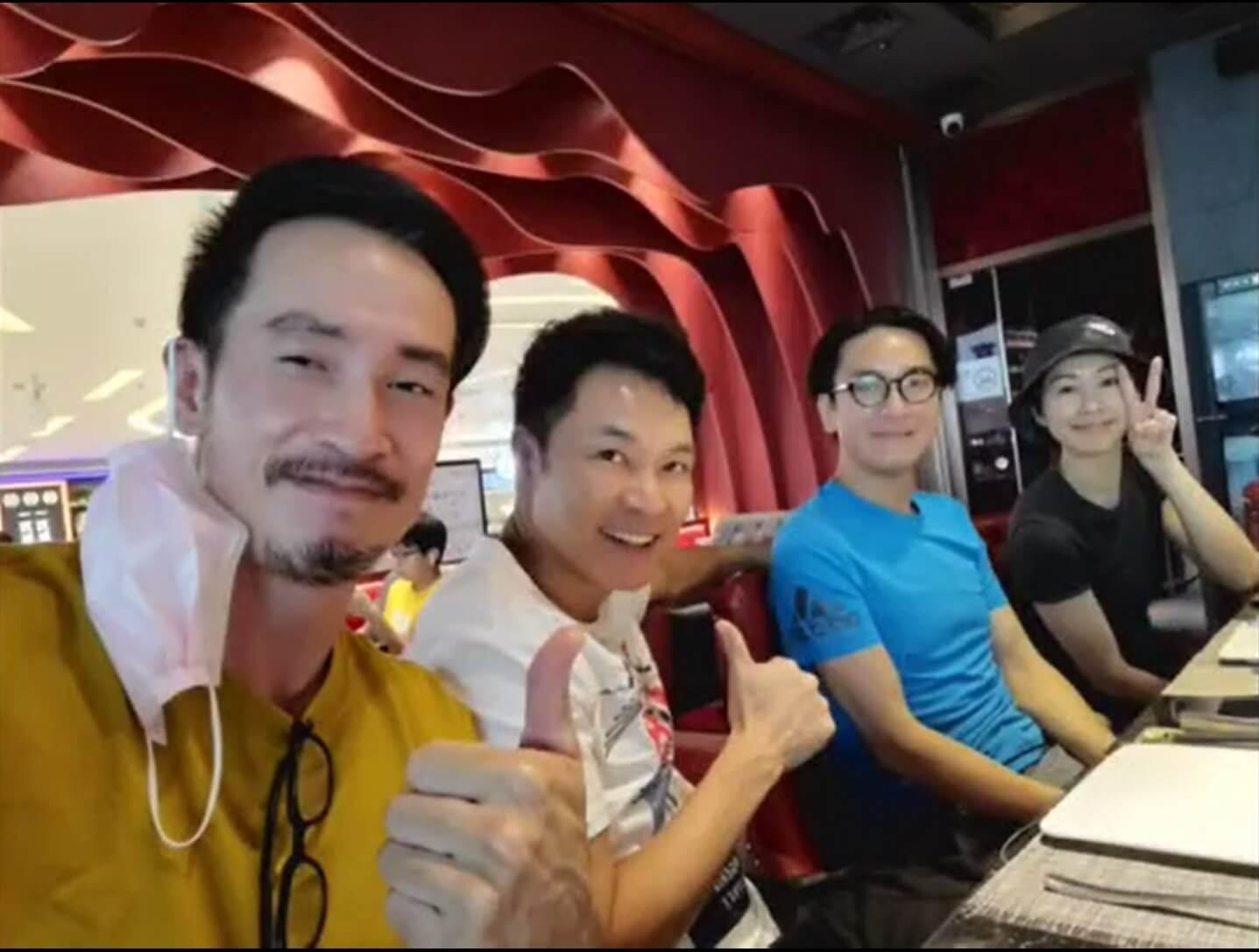 陳豪與郭晉安、馬國明正身處深圳拍攝《白色強人II》