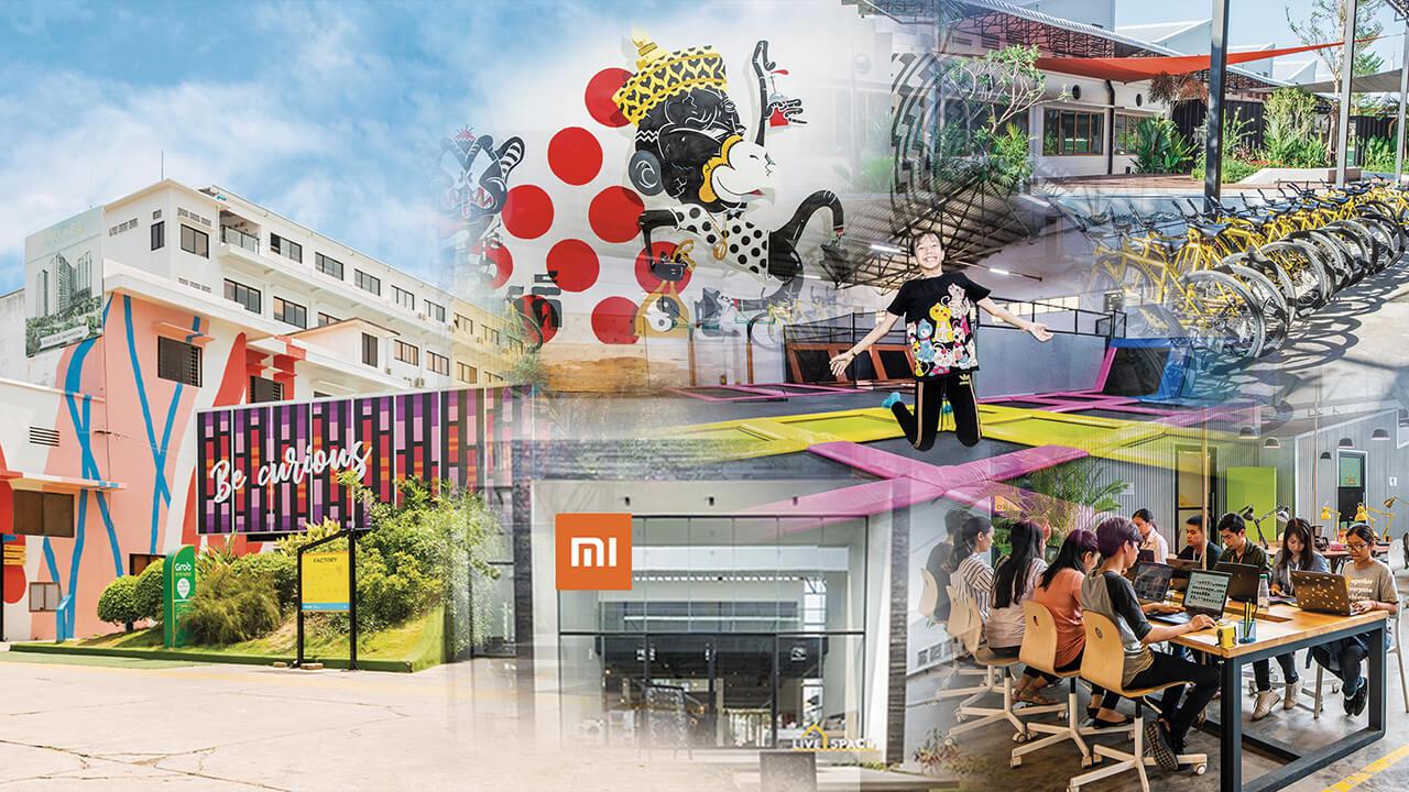 建築面積8,100,000平方呎,是全東南亞最大的創意園。
