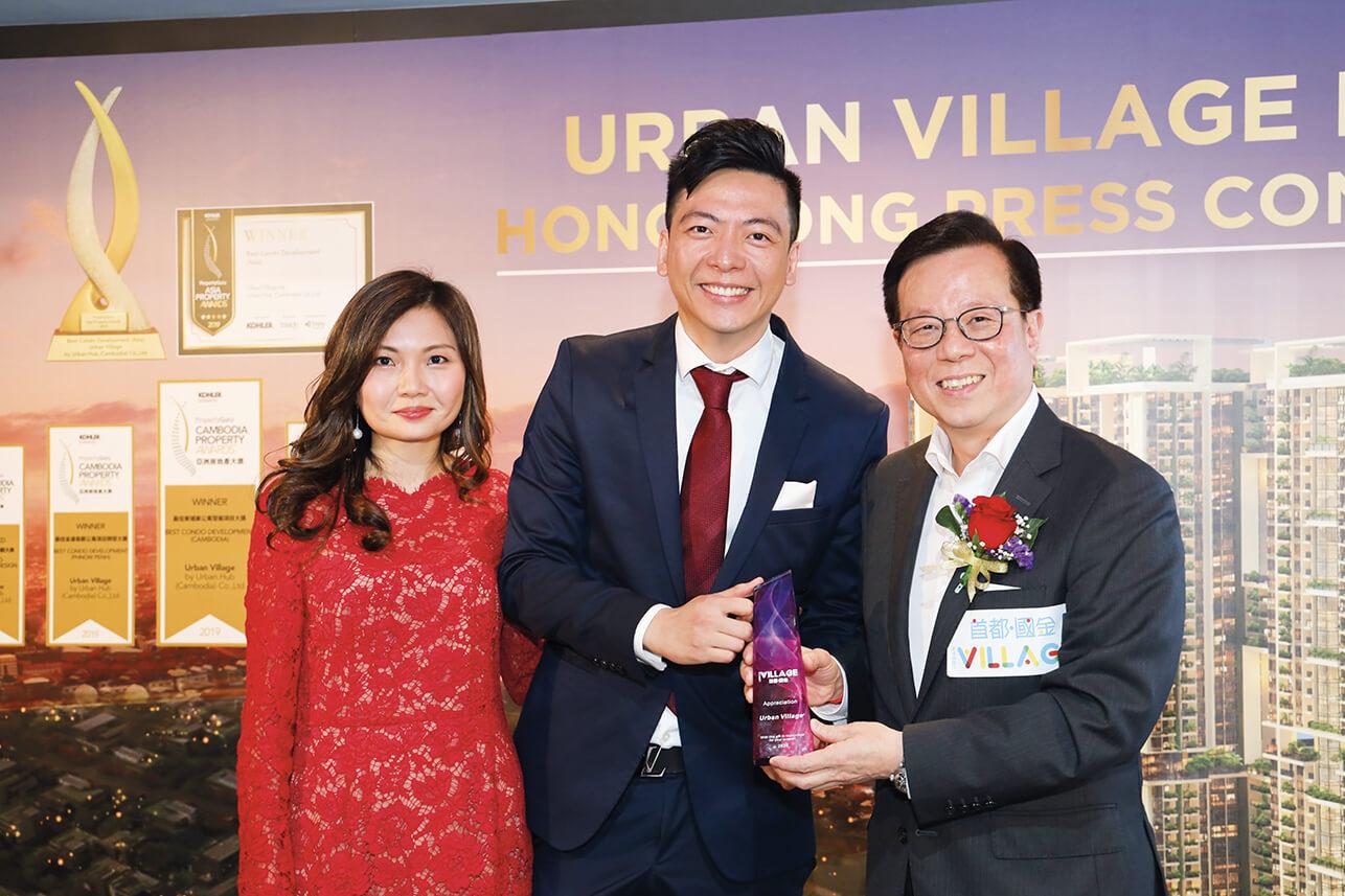 陳永陸親臨「Urban Village 首都•國金」說明會,分享對柬埔寨的投資心得。