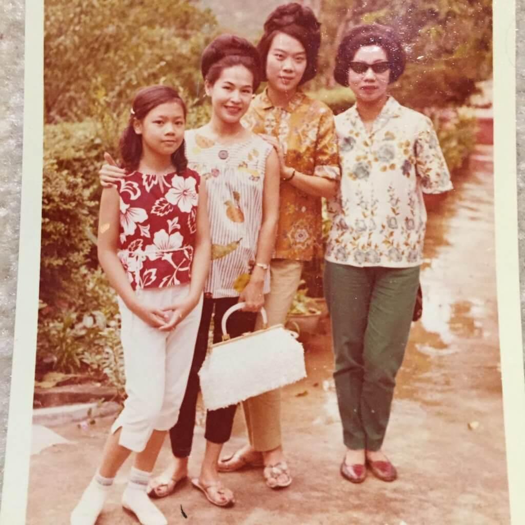 黃夏蕙與女兒、鳳凰女、羅蘭合照