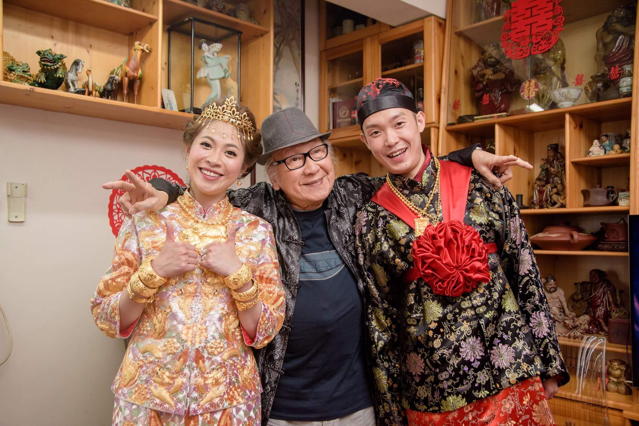 俞明於2017年見證孫仔結婚