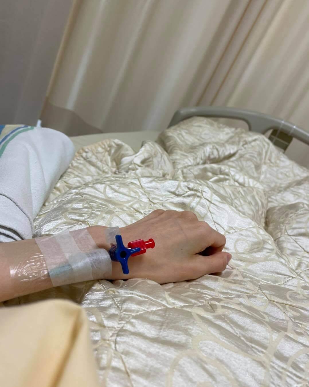 李明蔚近日難忍劇痛,需要住院治療。