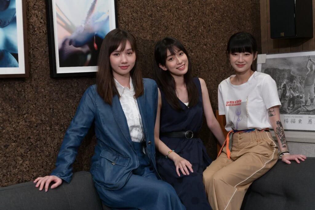 (左起)Nancy、Candy及Helen屬同一間經理人公司,三人首次一起拍劇,自然互相照顧。