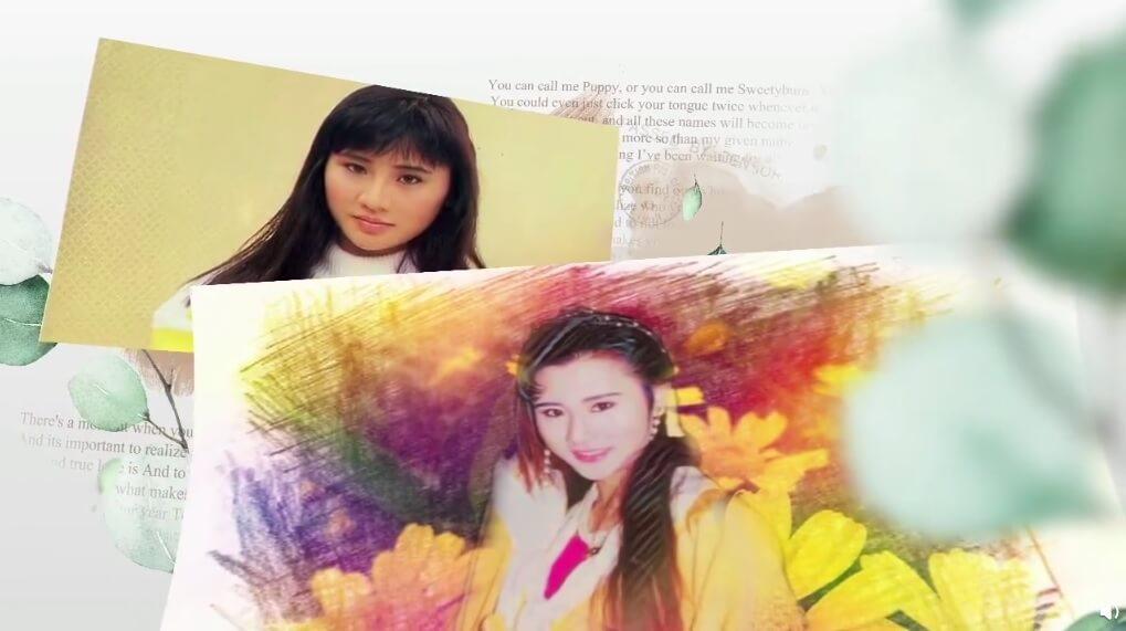 吳岱融將鍾淑儀年輕時的照片製作為短片,在微博向老婆送上生日祝福。