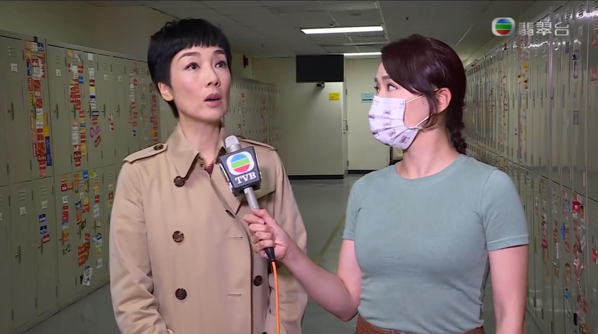 江美儀接受《東張西望》訪問(圖片來漂:myTV SUPER)