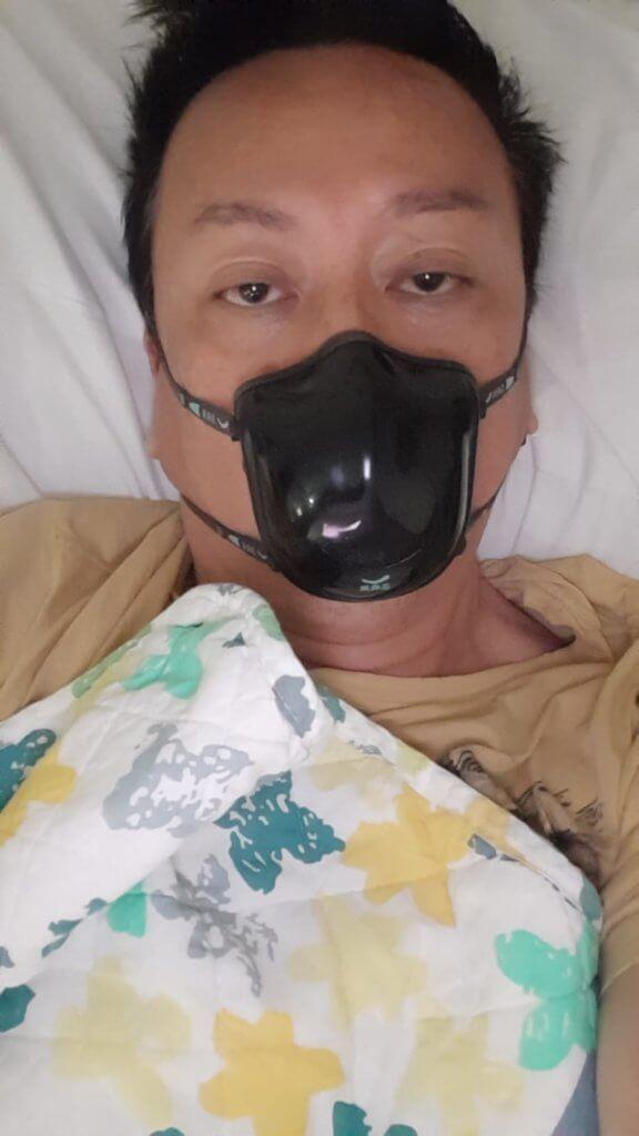 劉少君去年七月確診新冠肺炎,留院接受治療十一天。