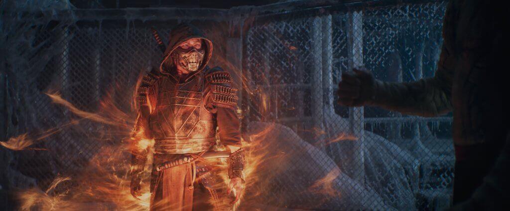 真田廣之扮演的忍者組織白井流成員蠍子,貫穿《真人快打》全片,戲分甚重。