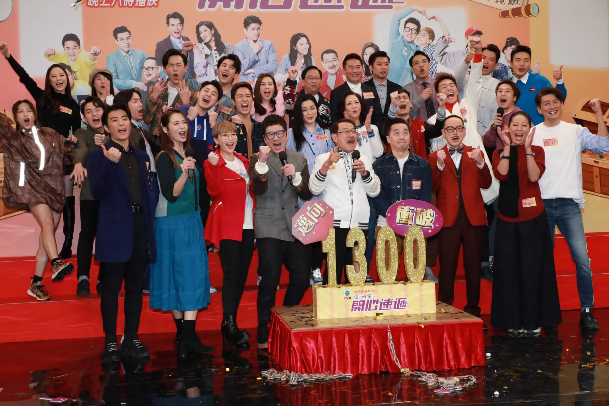 《愛回家》監製林建祥(前排右四)表示會以輕鬆氣氛交代安仔離開
