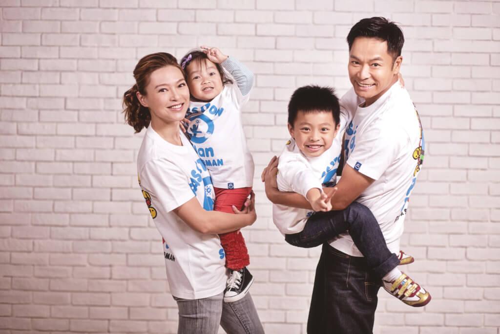 郭晉安和歐倩怡育有長子郭令山和次女郭以雅,湊成一個「好」字。