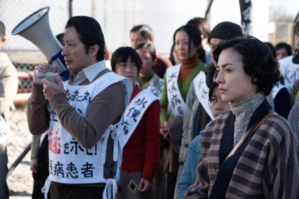 真田廣之扮演示威領袖,戲分不少。
