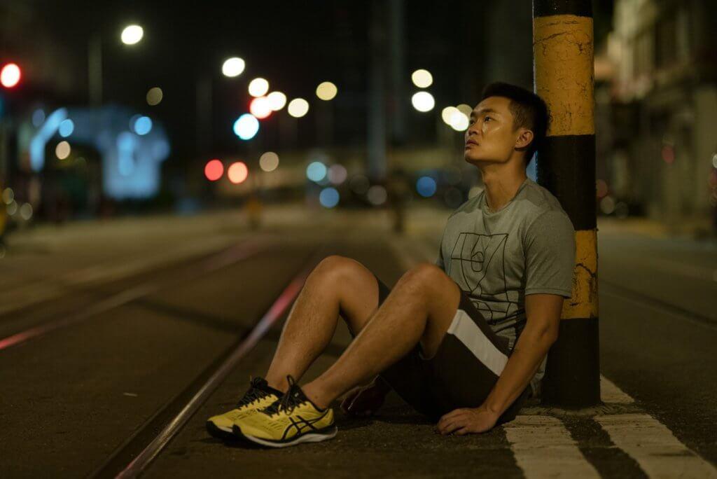 胡子彤拍結尾一場跑步戲時,現實跟劇情同樣筋疲力盡。