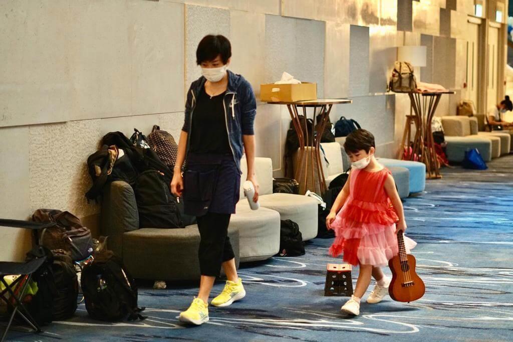 谷祖琳每天也會陪伴女兒開工,沒時間為電影客串。