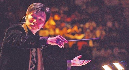 趙增熹喜愛擔任管弦樂團的指揮