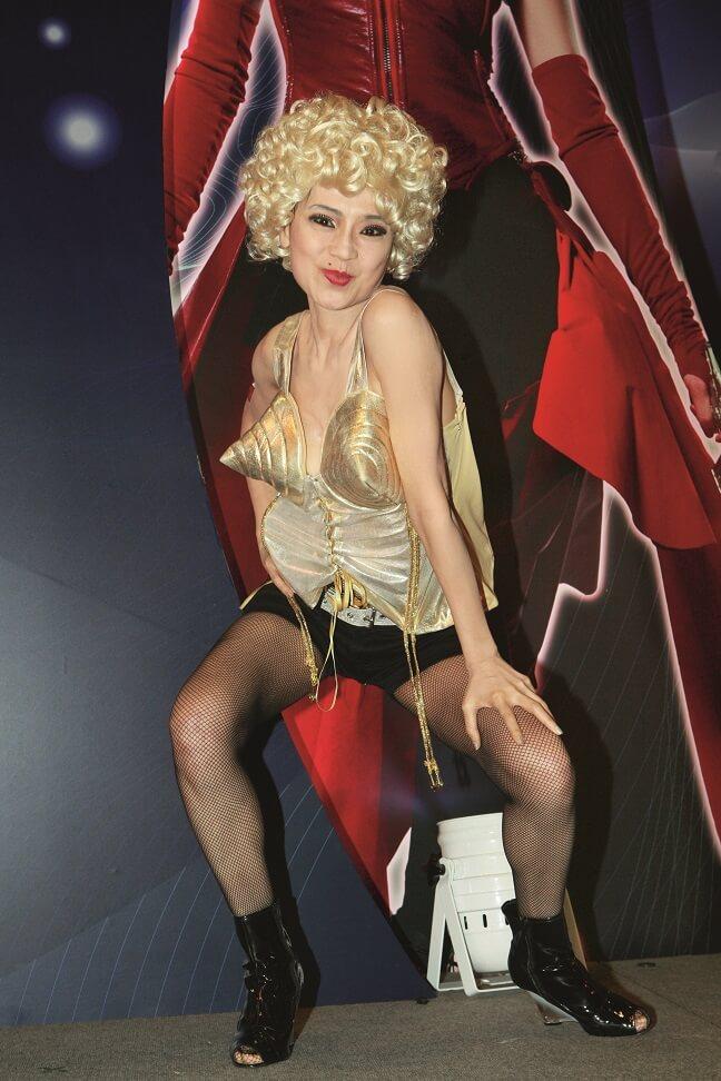 幾年前在公開活動扮Madonna