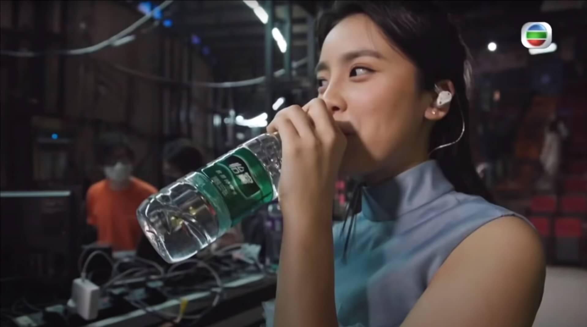 Chantel賽後喝水的片段也吸引5萬人觀看