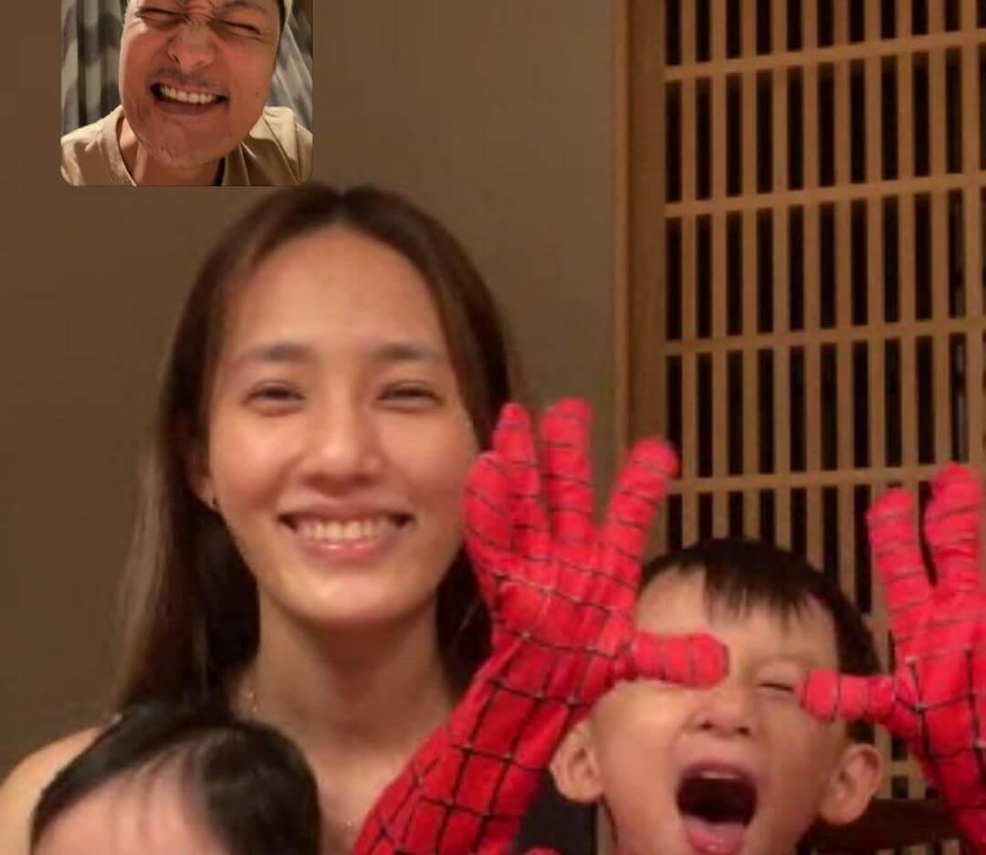 身處香港余文樂靠視像與台灣的老婆王棠云及子女解相苦之苦