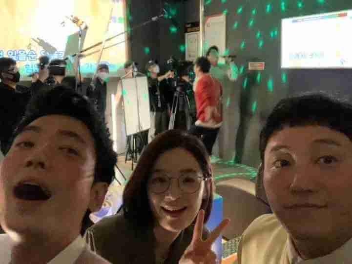 金大明因拍《機智醫生生活》而與田美都及鄭敬淏成為好友