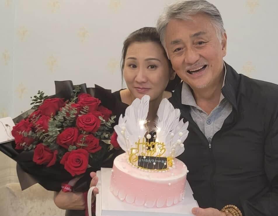 吳岱融和鍾淑慧最近慶祝結婚周年